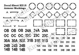 Armour Markings - Black